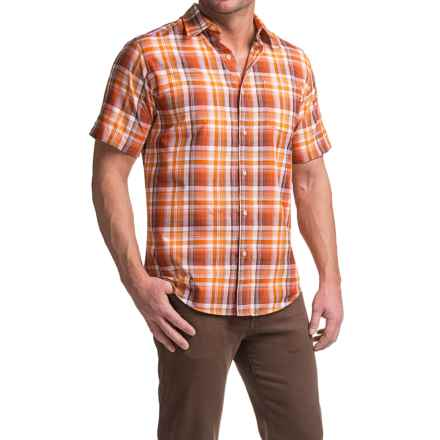 Marmot Notus Shirt - UPF 30, Short Sleeve (For Men) in Vintage Orange - Closeouts