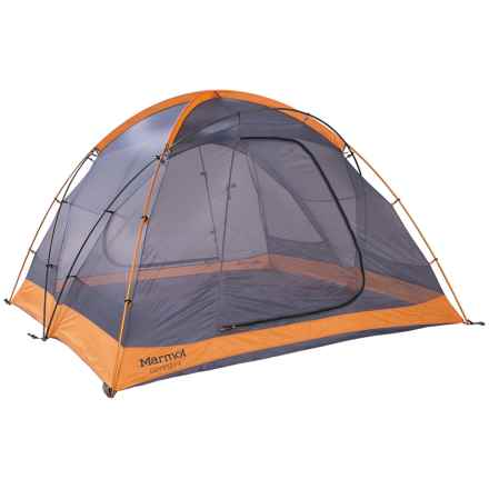 Marmot Odyssey 4 Tent - 4-Person, 3-Season in Pale Pumpkin/Terracotta - Closeouts