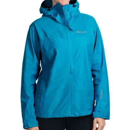 Marmot Optima Gore-Tex® Jacket - PacLite®, Waterproof, Hooded (For Women) in Aqua Blue - Closeouts