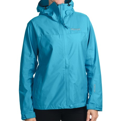 Marmot Optima Gore-Tex® Jacket - PacLite®, Waterproof, Hooded (For Women) in Blue Pool