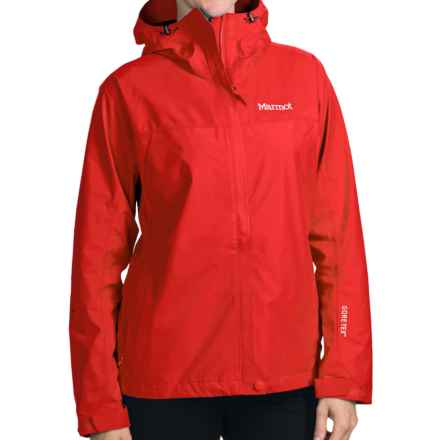 Marmot Optima Gore-Tex® Jacket - PacLite®, Waterproof, Hooded (For Women) in Cherry Tomato - Closeouts