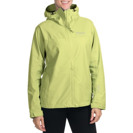 Marmot Optima Gore-Tex® Jacket - PacLite®, Waterproof, Hooded (For Women) in Citrus Ice