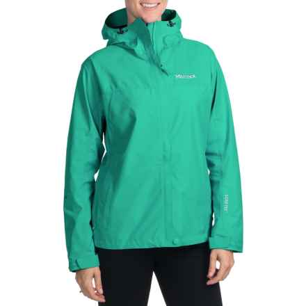 Marmot Optima Gore-Tex® Jacket - PacLite®, Waterproof, Hooded (For Women) in Gem Green - Closeouts