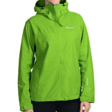 Marmot Optima Gore-Tex® Jacket - PacLite®, Waterproof, Hooded (For Women) in Green Envy - Closeouts