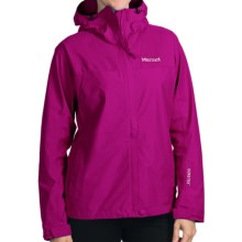 Marmot Optima Gore-Tex® Jacket - PacLite®, Waterproof, Hooded (For Women) in Plum Rose - Closeouts