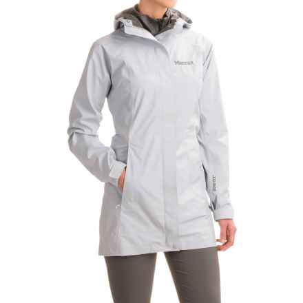 Marmot Optima LX Long Gore-Tex® PacLite® Rain Coat - Waterproof (For Women) in Silver - Closeouts