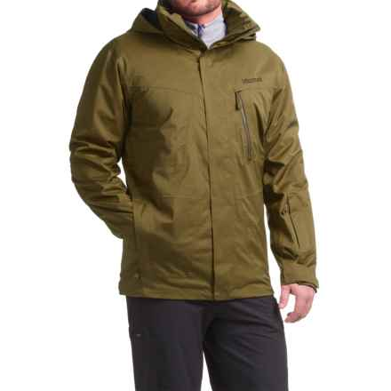 Marmot Origins X Snowboard Jacket - Waterproof, Insulated (For Men) in Brown Moss - Closeouts