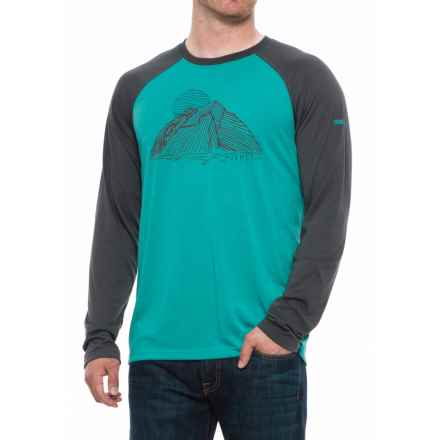 Marmot Owens Graphic T-Shirt - UPF 30, Long Sleeve (For Men) in Patina Green/Slate Grey - Closeouts