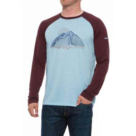 Marmot Owens Graphic T-Shirt - UPF 30, Long Sleeve (For Men) in Sky High/Burgundy - Closeouts