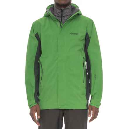 Marmot Palisades Gore-Tex® Jacket - Waterproof (For Men) in Lucky Green/Dark Spruce - Closeouts