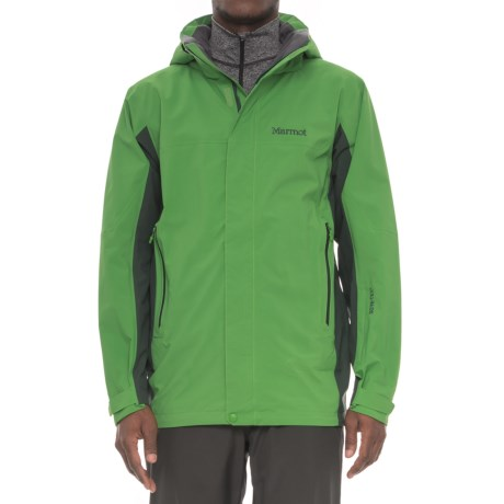 Marmot Palisades Gore-Tex® Jacket - Waterproof (For Men) in Lucky Green/Dark Spruce