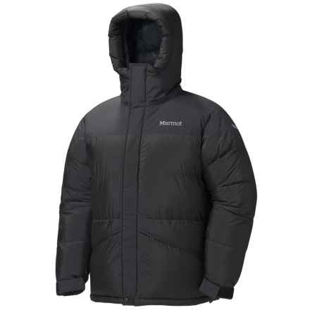 Marmot Parka - 8000M, 800 Fill-Power Goose Down  (For Men) in Black - Closeouts
