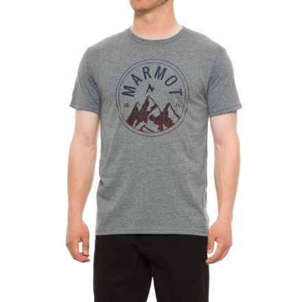 Marmot Perimeter T-Shirt - Short Sleeve (For Men) in Ash Heather - Closeouts