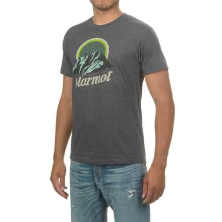 Marmot Pikes Peak T-Shirt - Cotton Blend, Short Sleeve (For Men) in Charcoal Heather - Closeouts