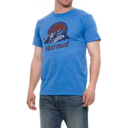 Marmot Pikes Peak T-Shirt - Short Sleeve (For Men) in New Royal Heather - Closeouts