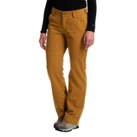 Marmot Piper Flannel-Lined Pants - UPF 50 (For Women) in Camel - Closeouts
