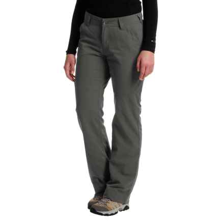 Marmot Piper Flannel-Lined Pants - UPF 50 (For Women) in Dark Steel - Closeouts