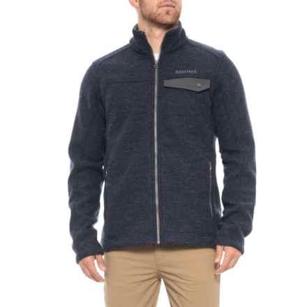 Marmot Poacher Pile Jacket - Full Zip (For Men) in Dark Indigo Heather - Closeouts