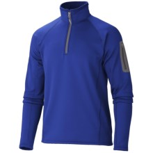 Marmot Polartec® Power Stretch® Pullover - Zip Neck (For Men) in Bright Navy - Closeouts