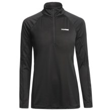 Marmot Polartec® PowerDry® Base Layer Top - Lightweight, Zip Neck, Long Sleeve (For Women) in Black - Closeouts