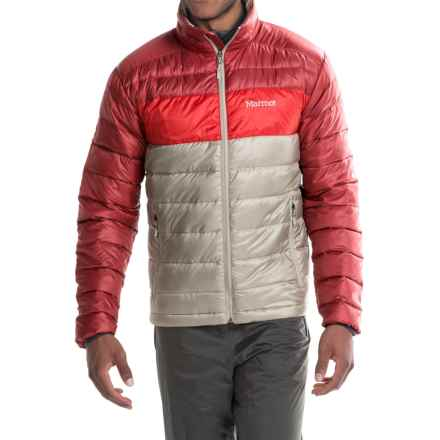 Marmot Portsmith Down Jacket - 600 Fill Power (For Men) in Pebble/Brick - Closeouts