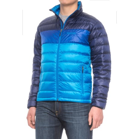 Marmot Portsmith Down Jacket - 600 Fill Power (For Men) in Skyline Blue/Arctic Navy