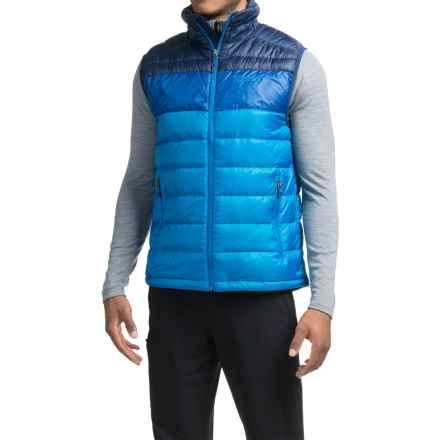 Marmot Portsmith Down Vest - 600 Fill Power (For Men) in Skyline Blue/Arctic Navy - Closeouts