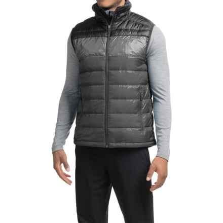Marmot Portsmith Down Vest - 600 Fill Power (For Men) in Slate Grey/Black - Closeouts