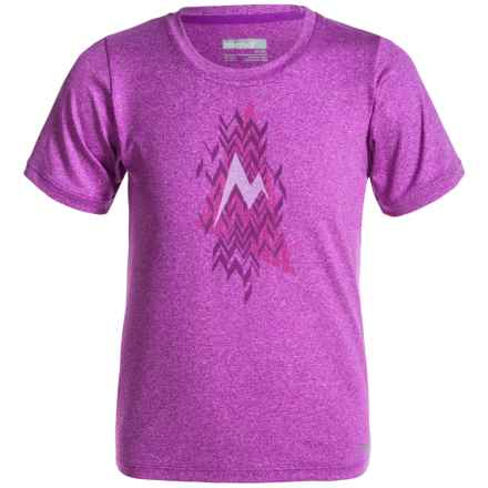 Marmot Post Time T-Shirt - UPF 30, Short Sleeve (For Girls) in Neon Berry Heather - Closeouts