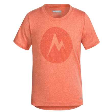 Marmot Post Time T-Shirt - UPF 30, Short Sleeve (For Little and Big Girls) in Emberglow Heather - Closeouts
