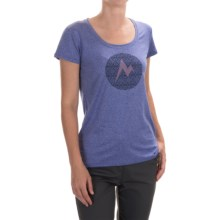 Marmot Post Time T-Shirt - UPF 30, Short Sleeve (For Women) in Gemstone Heather - Closeouts