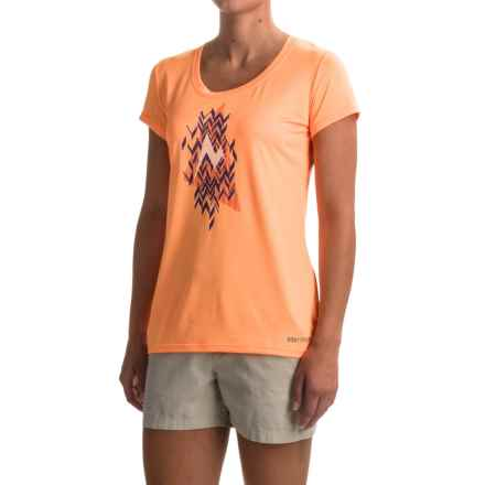 Marmot Post Time T-Shirt - UPF 30, Short Sleeve (For Women) in Orangesicle - Closeouts