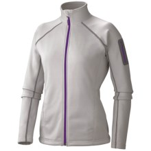 Marmot Power Stretch Jacket - Polartec® Power Stretch® (For Women) in Platinum - Closeouts