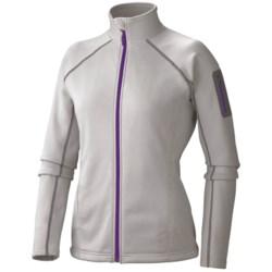 Marmot Power Stretch Jacket - Polartec® Power Stretch® (For Women) in Platinum