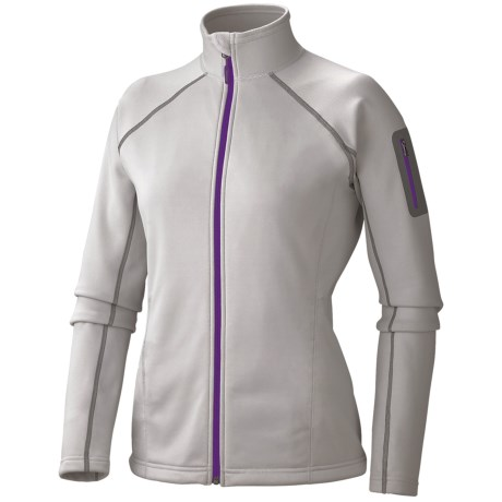 Marmot Power Stretch Jacket - Polartec® Power Stretch® (For Women) in Platinum