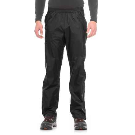 Marmot PreCip® Full-Zip Pants - Waterproof (For Men) in Black - Closeouts