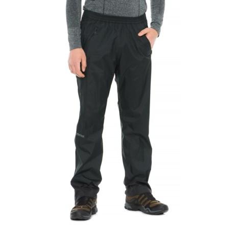 Marmot PreCip® Full-Zip Pants - Waterproof (For Men) in Obsidian
