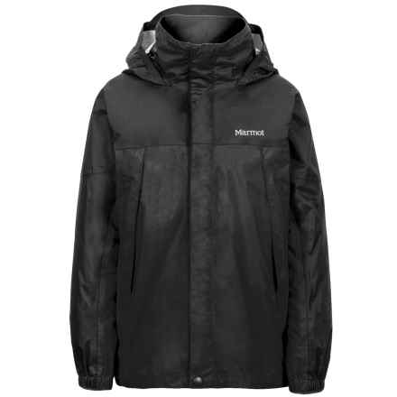 Marmot PreCip® Jacket - Waterproof (For Boys) in Black - Closeouts