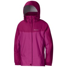 Marmot PreCip® Jacket - Waterproof (For Little Girls) in Berry Rose/Plum Rose - Closeouts
