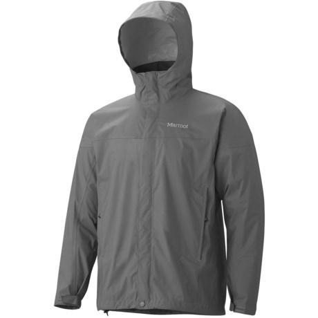 Marmot PreCip® Jacket - Waterproof (For Men) in Gargoyle