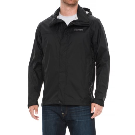 Marmot PreCip® Jacket - Waterproof (For Men) in Obsidian