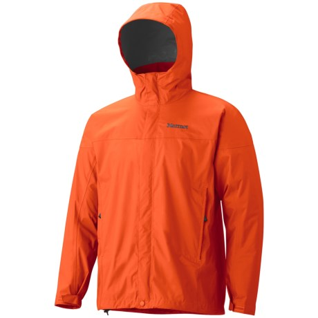 Marmot PreCip® Jacket - Waterproof (For Men) in Orange Spice