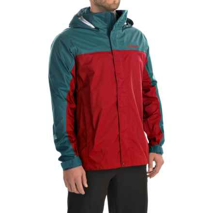 Marmot PreCip® Jacket - Waterproof (For Men) in Rocket Red/Moon River - Closeouts