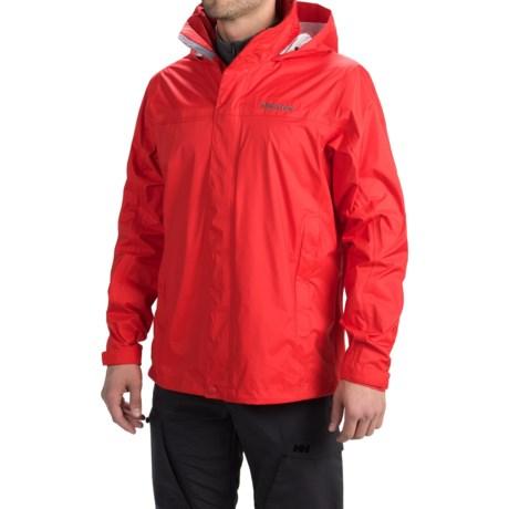 Marmot PreCip® Jacket - Waterproof (For Men) in Rocket Red