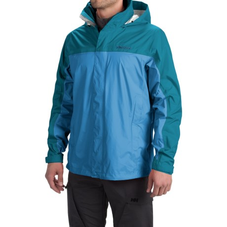 Marmot PreCip® Jacket - Waterproof (For Men) in Slate Blue/Moroccan Blue