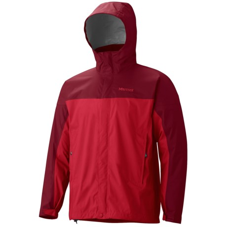 Marmot PreCip® Jacket - Waterproof (For Men) in Team Red/Brick