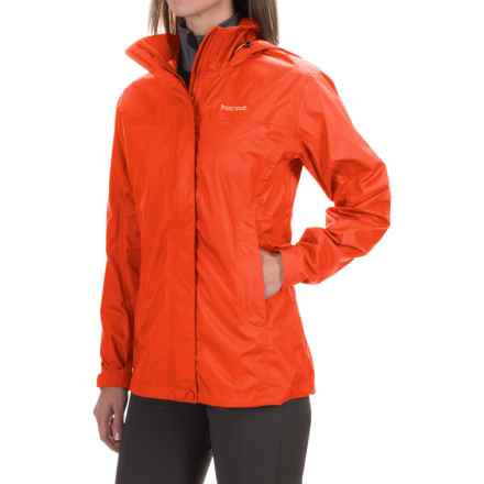 Marmot PreCip® Jacket - Waterproof (For Women) in Coral Sunset - Closeouts