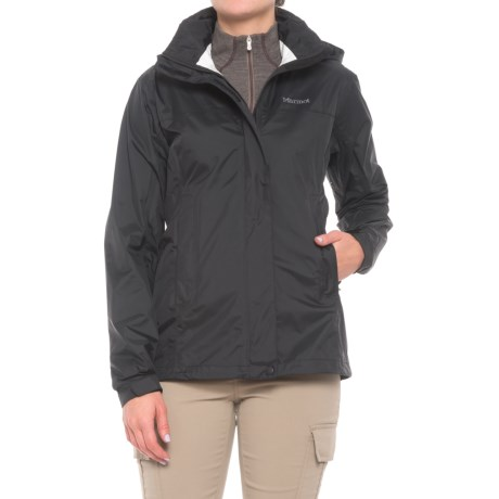 Marmot PreCip® Jacket - Waterproof (For Women) in Obsidian