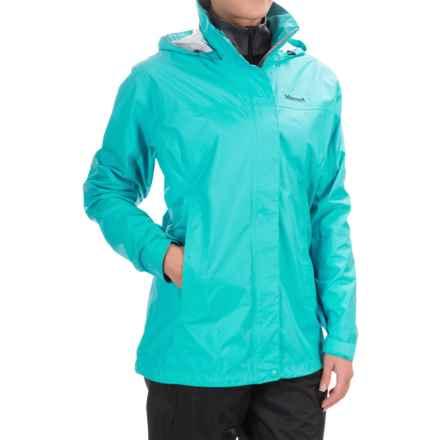 Marmot PreCip® Jacket - Waterproof (For Women) in Sea Breeze - Closeouts