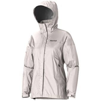 Marmot PreCip® Jacket - Waterproof (For Women) in Whitestone